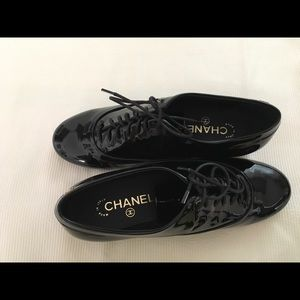 Chanel lace up shoes